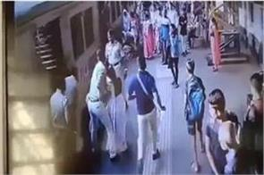 mumbai grp personnel save two woman from being run over by a train