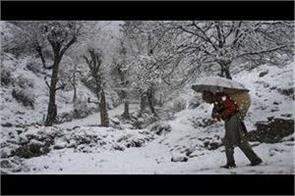snowfall in kashmir on 18 december