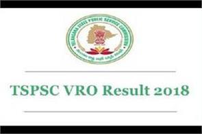 tspsc vro result declared