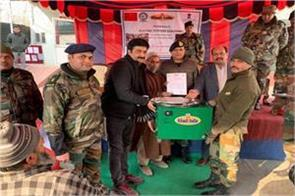 army and kvic a helping hand to poor in kashmir