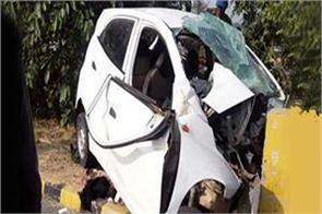uncontrolled driver collides with sharp speed car  4 deaths
