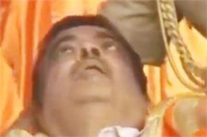 nitin gadkari fainted on stage during the program