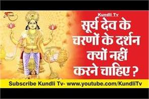 why should not be seen in the feet of sun god