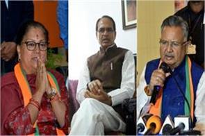 after the defeat shivraj vasundhara and raman will be replaced with new faces