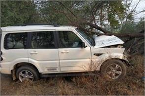 dushyant chautala kafila accident in fatehabad