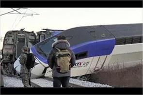 14 injured as high speed train derails in south korea