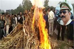 bulandshahr violence the funeral of inspector subodh