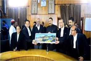 bar association welcomed of nainital hc chief justice