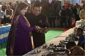 before the marriage of daughter isha the food service of mukesh ambani