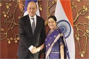 india can always trust france foreign minister of france