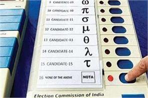 political parties have not been given  nota