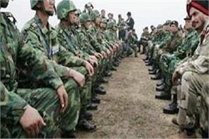 china indian army launched anti terrorism practice