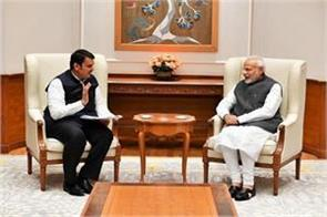 fadnavis meets pm modi seek help to deal with the situation of drought