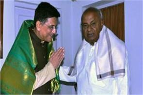 piyush goyal meets devgowda