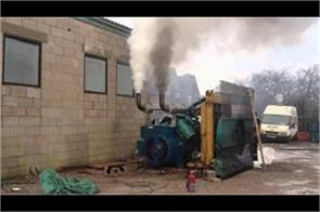 damage to pollution on vat recovery  diesel generator rigged from recovery