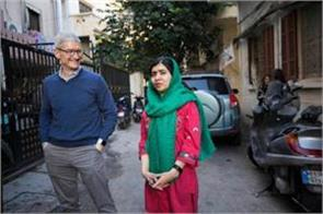 apple joins malala fund for girl education in india