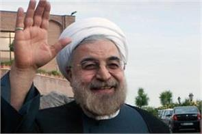 hassan rouhani leaves for hyderabad from delhi