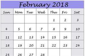 february lucky unlucky dates