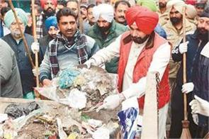 navjot singh sidhu launches cleanliness campaign in amritsar