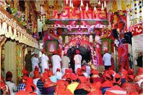 video maa vaishno devi bhawan decorated with fruits and flowers