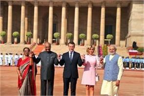 french president and pm modi will be in formal meeting