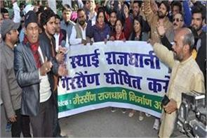 march for the demand for permanent capital in garsain