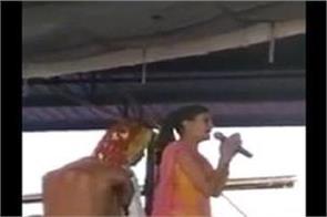 gusai sapna chaudhary video on social media viral happening in goshala