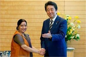 sushma swaraj met to shinzo abe