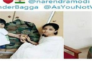 satish dahiya daughter tie shaurya chakra in the uniform