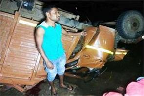 madhya pradesh 25 people died on the bridge over uncontrolled bus