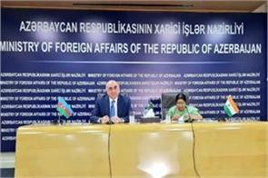 sushma met foreign minister of azerbaijan discussions on global issues