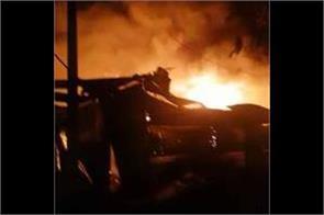 lakhnaur furniture market by fire loss of crores