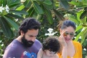 saif ali khan with kareena and taimur after blackbuck case