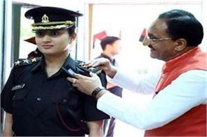 military officer of former cm dr nishank daughter