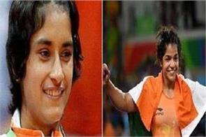 vinesh phogat win goldmedal and sakshi malik bronze medal