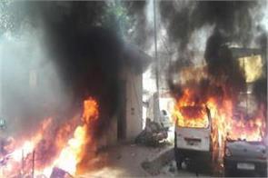 fierce demonstration of dalit organization in hapur