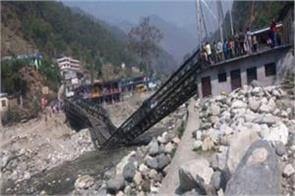 uttarakhand the only valley bridge that connects india china is broken