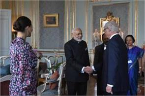 pm modi met the king of sweden