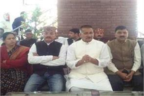 kishore upadhyay meets workers on election process