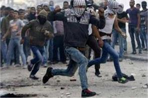 bullets were launched on israeli protesters protesters spreading violence