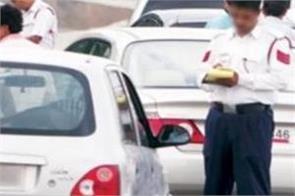 7 vehicles on challan for break traffic rules in secretariat