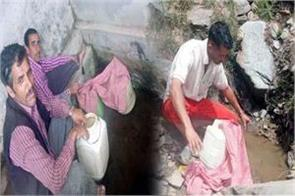here people are forced to drink dirty water