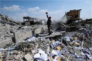 arms warehouse explosion in syria 11 killed