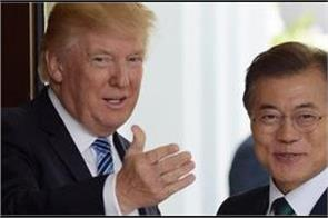 trump and south korean president moon talk ahead of north korea