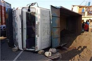 the truck was crushed by devotees going to darshan in maa puranagiri temple
