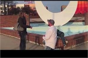 son peeing in background of parents  proposal