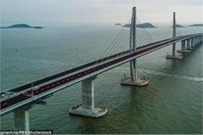 world s longest sea crossing bridge complete in china