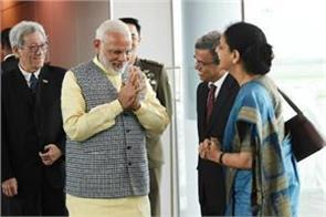 modi reached singapore in the last phase of the 3 countries visit