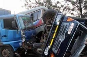 48 killed as bus rams into tractor and truck in uganda