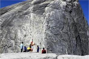 usa indian death due to collapse during yosemite s half dome climb